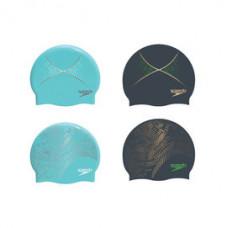 """Speedo 成人""""雙面""""矽膠泳帽 Reversible Monogram SD809337A849A 水藍 SD809337A849B黑 SD8093376817A 銀/藍 SD8093377239A藍 SD8093377239C 黑"""