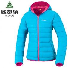 Atunas 歐都納 女 羽絨外套-藍/紫紅 A-G1460W
