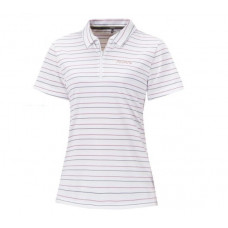 Atunas 歐都納 女 Atunas-tex短袖polo衫-白底紅藍條 A-P1520W-WT