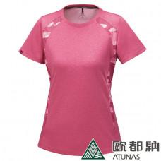 Atunas 歐都納 女 涼感T恤-深粉紅/迷彩飾邊 A-T1703W-PK