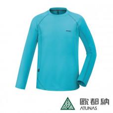 Atunas 歐都納 男 長袖T恤-湖綠/灰 A-T1713M