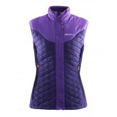 Craft 女 化纖聚溫保暖背心-紫 1903735-2463