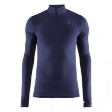 Craft 瑞典 全天候長袖拉鍊立領排汗衣(男)-深藍 1906602-B910