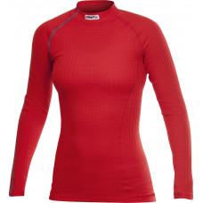 Craft 女 極限運動-長袖立領排汗衣-紅 190987-2428
