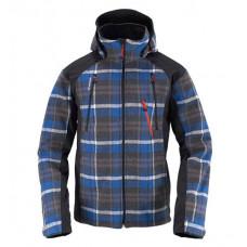 Eider 男 格紋羊毛防風連帽外套 藍 2EIV2097-6299