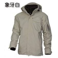 Eider 男 防風保暖兩件式外套-米白 EIT1095-5200