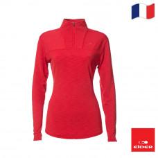 Eider 女 輕暖透氣長袖開襟衫 紅 EIT2535-3027