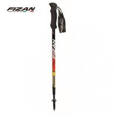 FIZAN 義大利 超輕三節式健行登山杖(單支)-德國國旗 FZS17.7101.GF