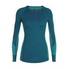 Icebreaker 頂極美麗諾羊毛 女 ZONE 網眼透氣保暖長袖上衣(BF260)-翠暗藍 IB104477-402