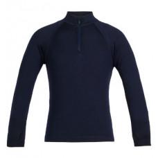 Icebreaker 頂極美麗諾羊毛 兒童 Tech 半開襟長袖上衣(BF260) 深夜藍 IB104499-401