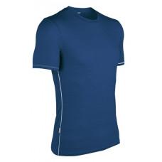 Icebreaker 頂極美麗諾羊毛 涼爽羊毛 男彈性圓領短袖衣(BF150)-藍  IB100466-J91