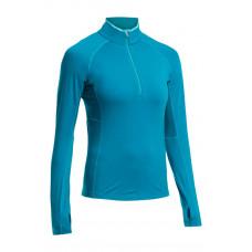 Icebreaker 頂極美麗諾羊毛 女BodyfitZONE網眼透氣半開襟衣(BF200)-高山藍 IB102571-401
