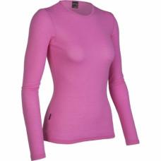 Icebreaker 頂極美麗諾羊毛 女圓領素色長袖上衣(ED200)-粉紅 IB8E78-G10