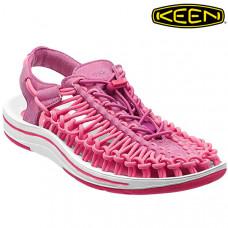 Keen Uneek 女 彈性編織涼鞋-粉紅/桃紅 1013094