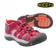 Keen Newport H2 兒童寬帶涼鞋-桃紅/橘 1014267