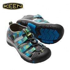 Keen Newport H2 兒童寬帶涼鞋-灰/藍 1016281