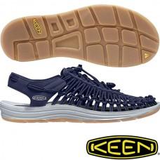 Keen Uneek 男 彈性編織涼鞋-深藍 1017032