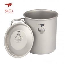 Keith 折疊鈦杯(單層) 400ml Ti-3203