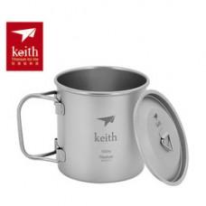 Keith  折疊鈦杯(單層) 500ml Ti-3205