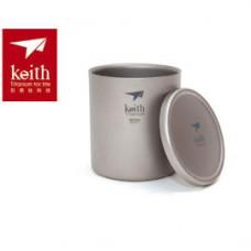 Keith  鈦保溫杯(雙層) 300ml Ti-3302