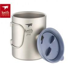 Keith  折疊鈦保溫杯(雙層) 450ml Ti-3341