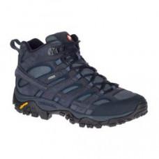 Merrell Moab2 Smooth 男GT中筒健行鞋-深藍 ML46557
