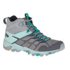 Merrell Moab FST2 女 GT中筒健行鞋-灰/淺藍 ML77480