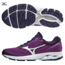 MIZUNO 美津濃 RIDER 女慢跑鞋-白/紫 J1GD183108