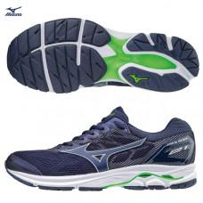 MIZUNO 美津濃 Wave Rider21 男慢跑鞋-深藍/綠 J1GC180419