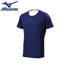 MIZUNO 美津濃 男路跑短袖T恤-藍 J2TA650113