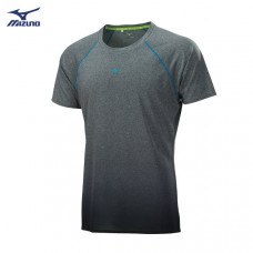MIZUNO 美津濃 男路跑短袖T恤-灰(漸層) J2TA800405