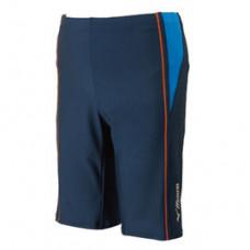 MIZUNO 美津濃 Fitness 五分泳褲(附內裡) 深藍/桔線 N2JB610382
