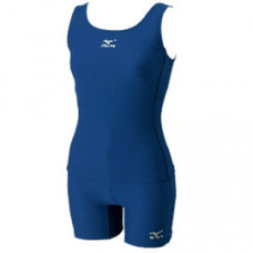 MIZUNO 美津濃 女基本款泳衣BASIC工背兩截四角-丈青  85ET-30014