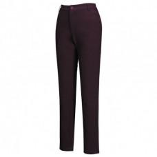 Mountneer 山林 女 SOFT SHELL窄管保暖長褲-紫紅/丈青 22S08
