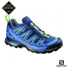 Salomon X Ultra2 男 GT低筒鞋-午夜藍/光芒綠 L381636