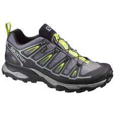 Salomon X Ultra2 男 GT低筒鞋-陰影灰/黑/萊姆綠 L393516