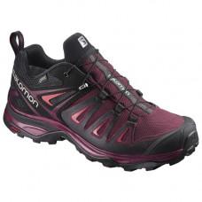 Salomon X Ultra3 女 GT低筒鞋-深沉紅/黑/亮紅粉 L398681