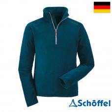 Schoffel 男 Leroy保暖素色刷毛開襟衣 藍 5SL20-21036-8