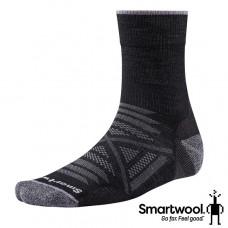 Smart Wool 美國 男 PhD戶外輕量減震中長襪-黑 SW001067-001