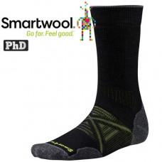 Smart Wool 美國 男 PhD戶外中量級中長襪-黑/栗子棕 SW001071
