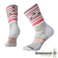 Smart Wool 美國 女 PhD戶外中量級減震條紋中長襪-淡灰 SW001120-069