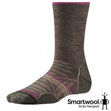 Smart Wool 美國 女 PhD戶外輕量避震中長襪-淺灰/灰褐 SW001311