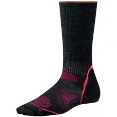Smart Wool 美國 女 PhD全筒輕薄戶外襪-碳黑/粉 SW051-003