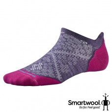Smart Wool 美國 女 PhD輕量菁英減震型跑步踝襪-沙漠紫/鋼鐵藍 SW0SW210