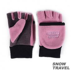 Snow Travel 雪之旅 WINDBLOC 防風保暖半指兩用手套(粉紅色) ST-AR47-PK