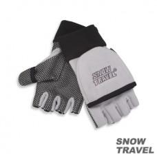 Snow Travel 雪之旅 WINDBLOC 防風保暖半指兩用手套(灰色) ST-AR47-GY
