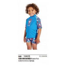 Speedo 兒童休閒短袖防曬衣 Jungle Roar Essential 藍海盜 SD805594B402