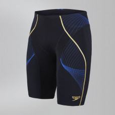 Speedo  男 運動及膝泳褲 Fit Pinnacle 黑/藍 SD810370B012