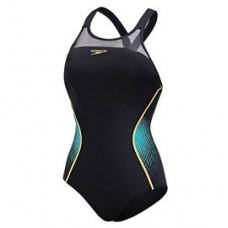 Speedo  女 運動連身泳裝 Speedo Fit Pinnacle XB 黑/藍 SD810398A778