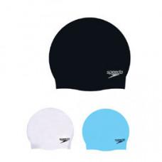 Speedo 成人矽膠泳帽 PlainMoulded SD8709849097黑 SD8709840003白 SD8709848919天空藍 SD8709848922黃 SD8709849086灰 SD8709849853 紅/ SD8709840660/9074/A064 粉紅 1181/銀 A309/水藍